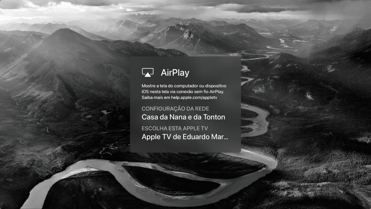 Recurso de sala de conferencias de Apple TV