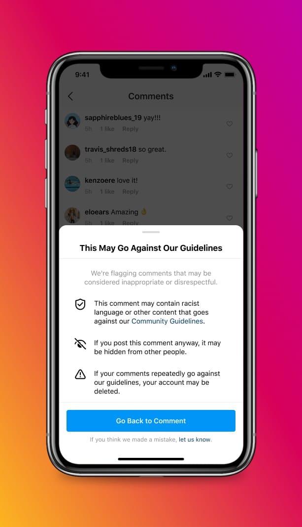 Nuevas funciones de abuso de Instagram