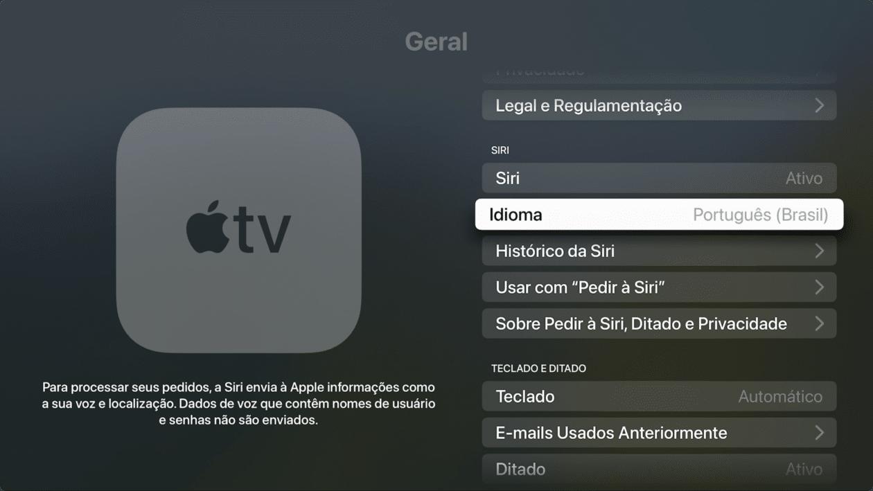Idioma en Apple TV