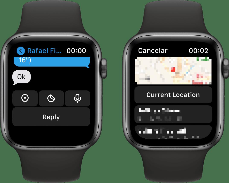 Compartir ubicación en Telegram (Apple Watch)