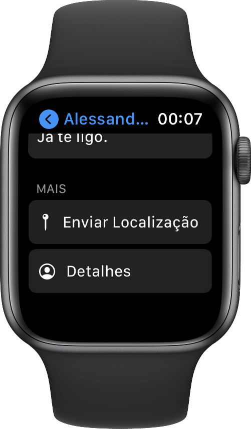 Compartir ubicación en mensajes (Apple Watch)
