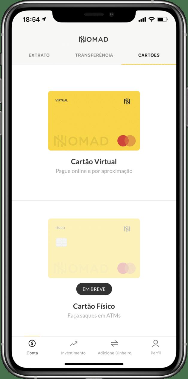 Cuenta digital estadounidense de Nomad