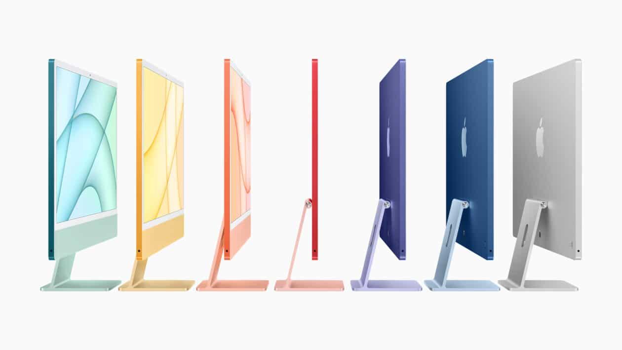 Nueva familia de iMac de 24 pulgadas con chip M1 de color lateral