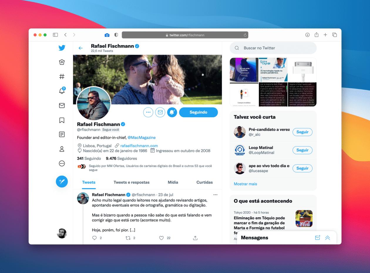 Twitter en la web