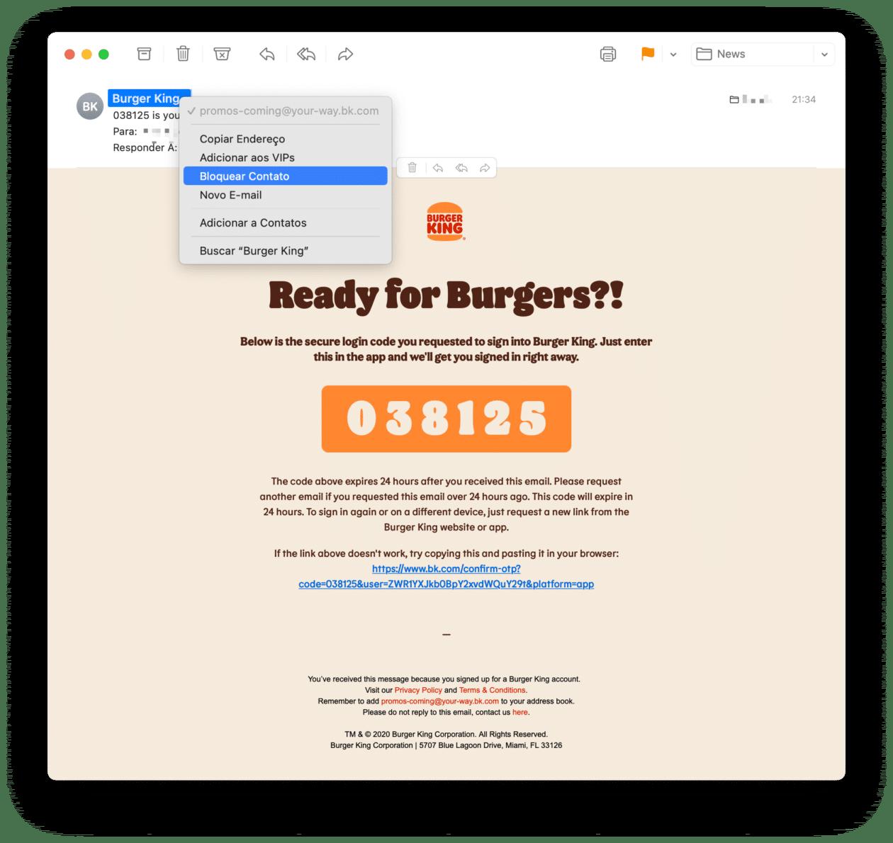 Bloquear remitentes en macOS Mail