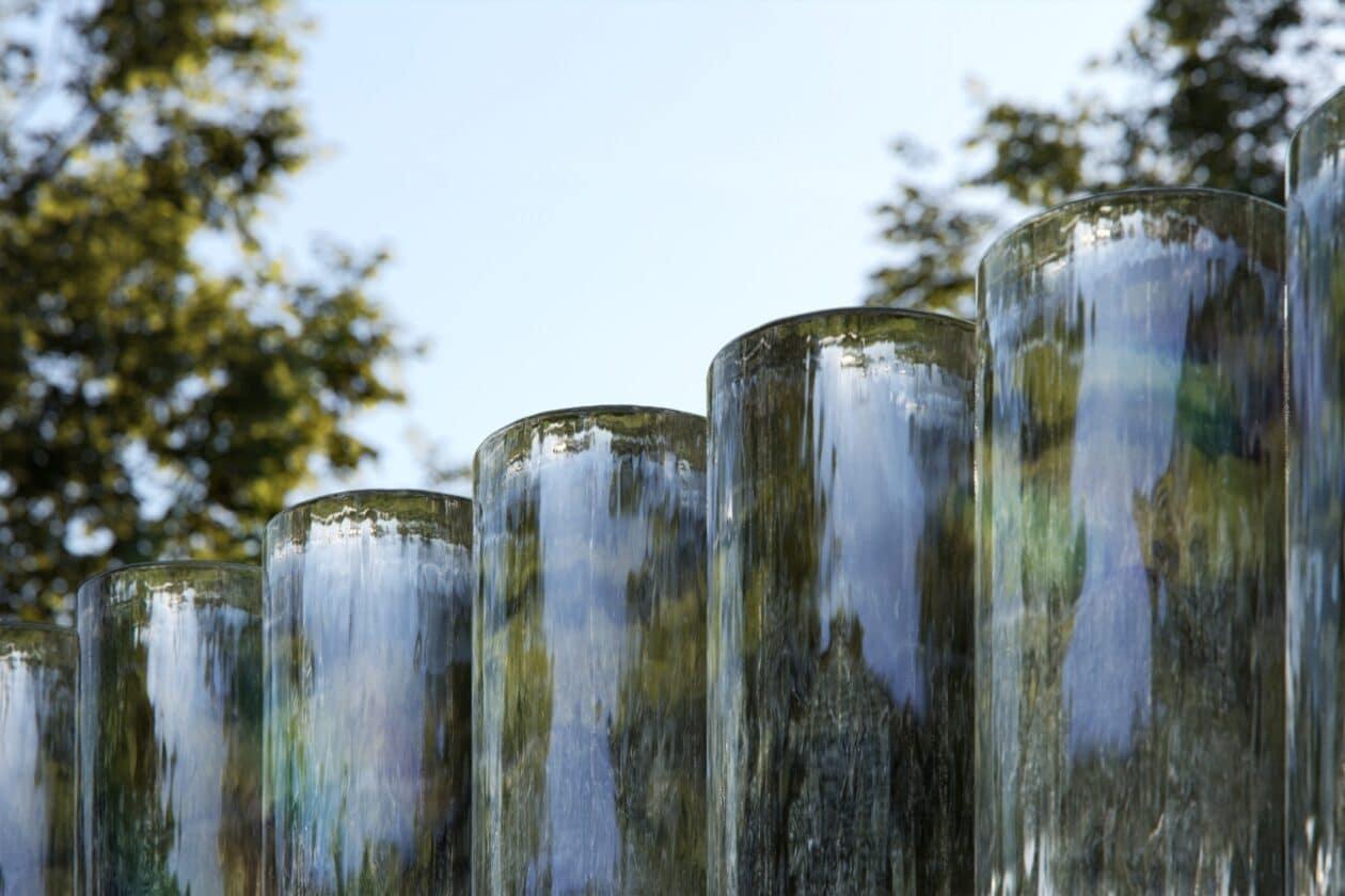 """""""MIrage"""", escultura en el centro de visitantes de Apple Park"""