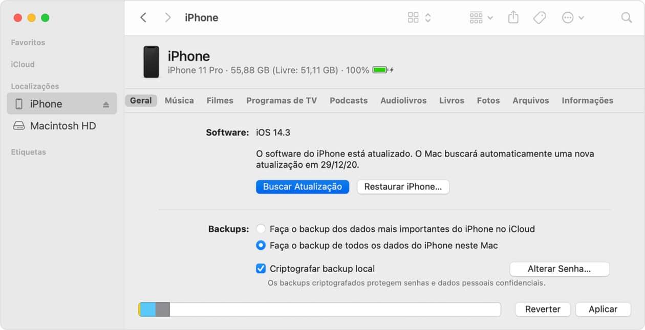 Actualización de iOS por Mac