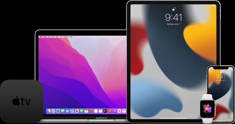 Betas do iOS 15, do iPadOS 15, do macOS Monterey, do watchOS 8 e do tvOS 15