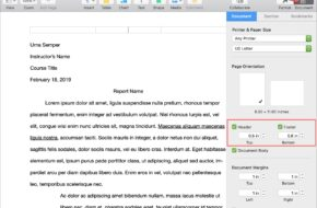 Como se trabaja con cabeceras y pies de página a Pages al Mac