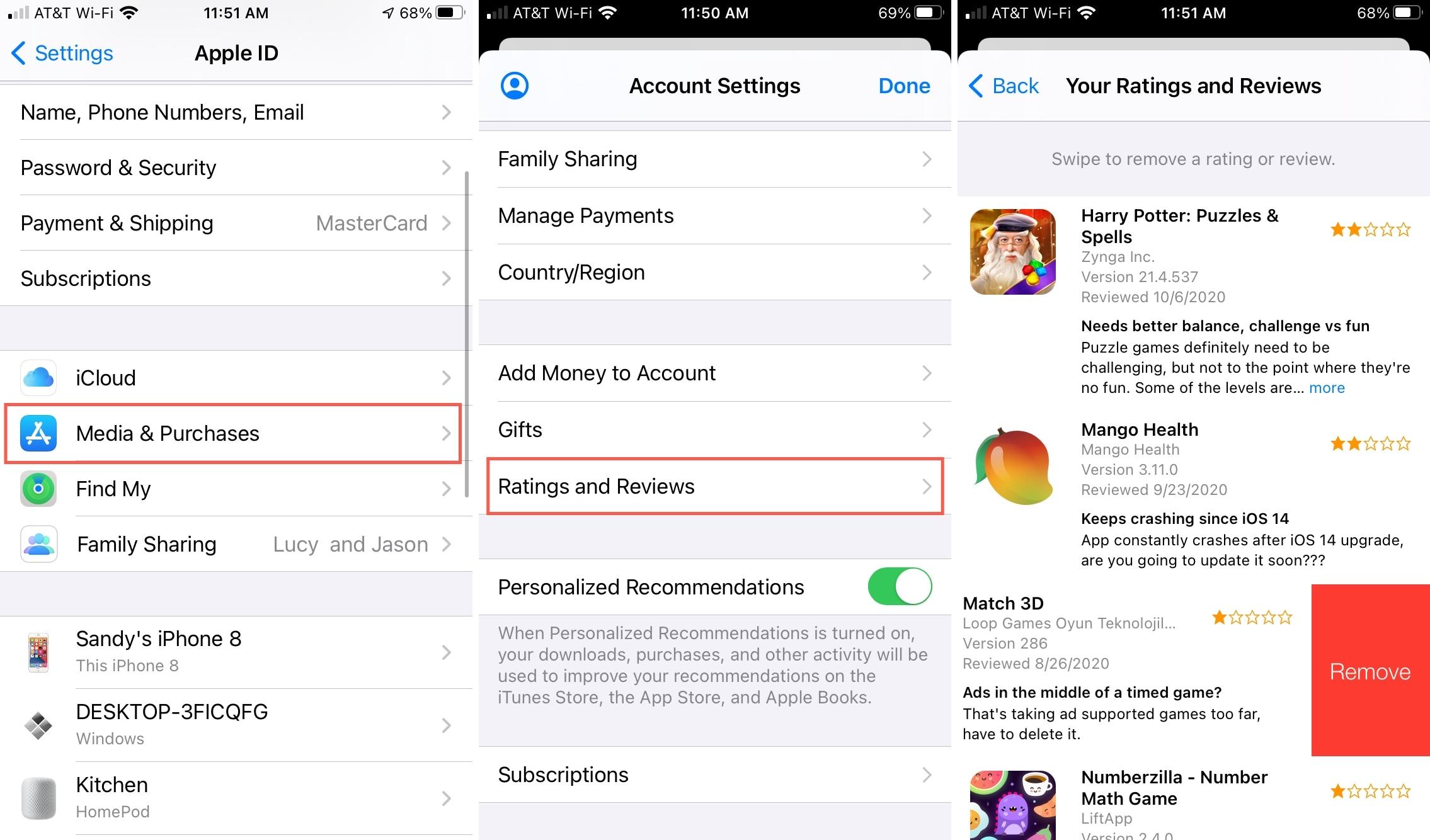 Medios de comunicación y compras, valoraciones y reseñas en la App Store
