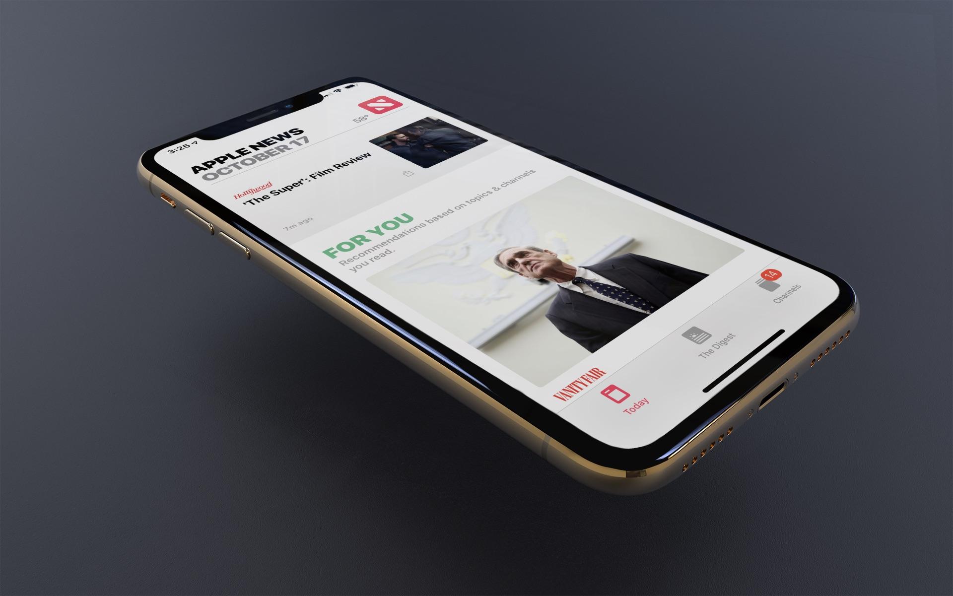 canales de noticias de Apple que siga