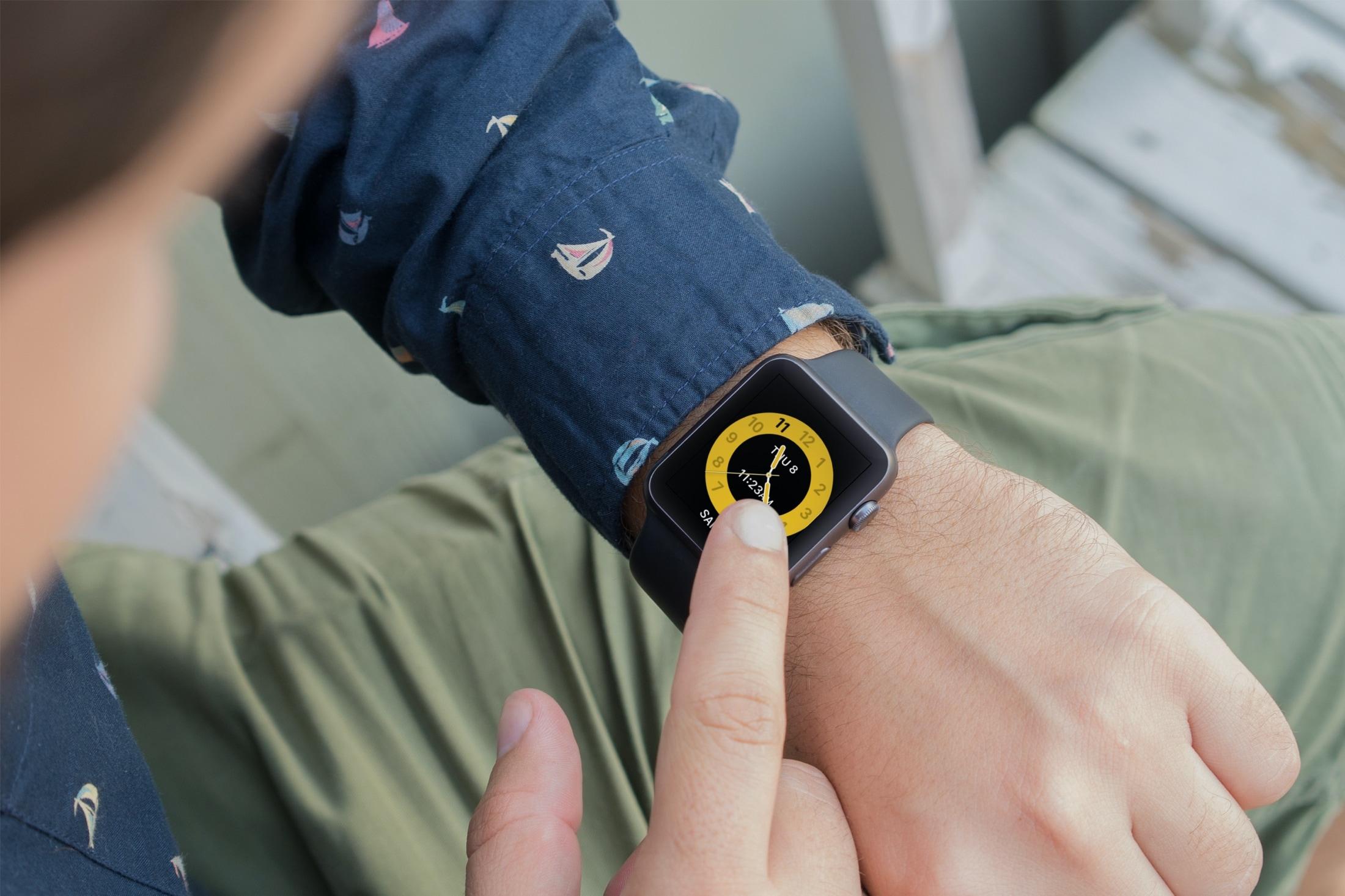 Apple Watch Face activado en horario escolar