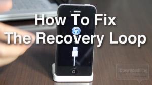 Cómo arreglar el temible bucle de recuperación del iPhone y cambiar de versión iOS 4.3.3