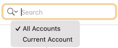 Utilice la búsqueda de todas las cuentas en Notas