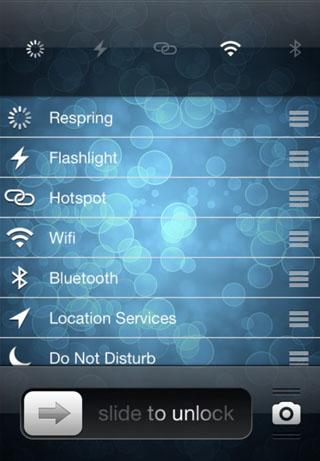 Lockscreentoggles modifica Cydia iOS
