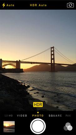 iPhone HDR foto automático