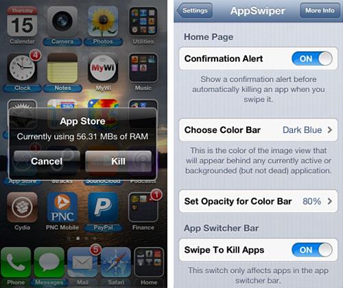 AppSwiper retoca Cydia iOS