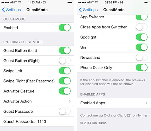 Modo de invitado de iOS