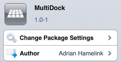 MultiDock retoca Cydia iOS