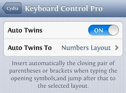 Keyboard Control Pro modifica Cydia iOS