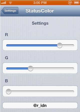 Color de estado ajustado a Cydia iOS