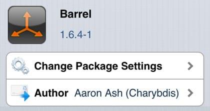 Ajuste del iPhone barril