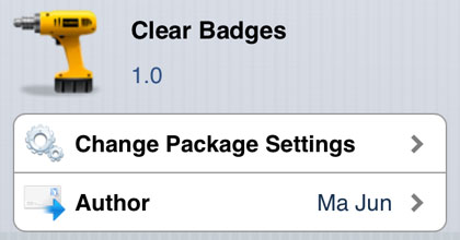 Borra las insignias para modificar Cydia iOS