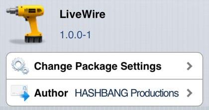 LiveWire retoca Cydia iOS