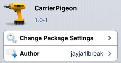 CarrierPigeon retoca Cydia iOS