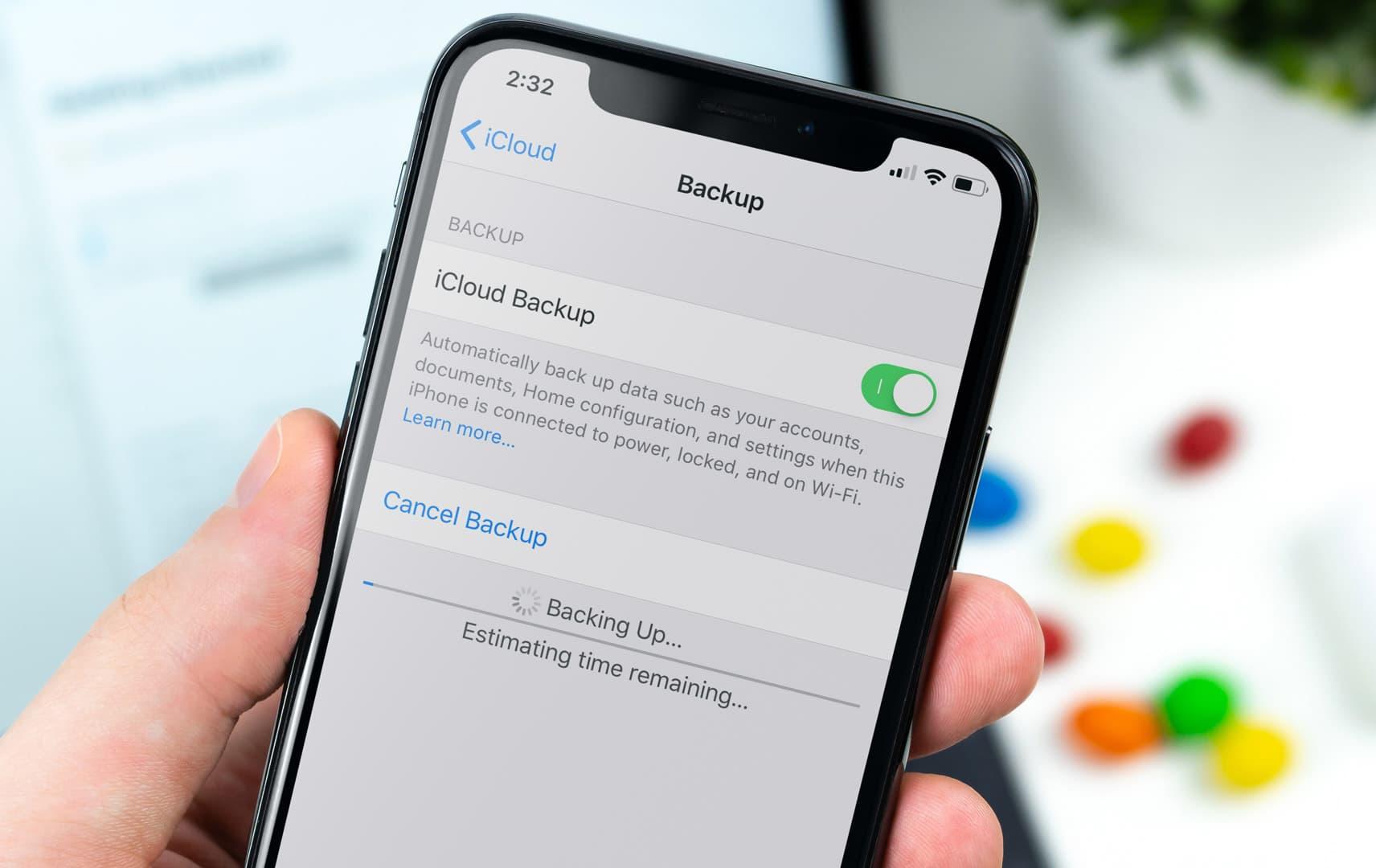 copia de seguridad de iCloud