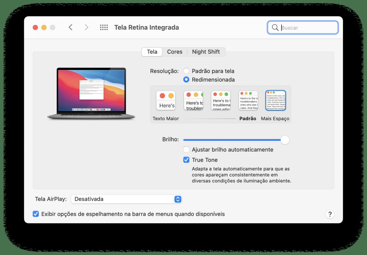 Resolución de pantalla de Mac