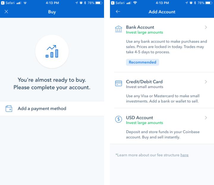 Como comprar Bitcoin, Ethereum o Litecoin con Coinbase iPhone o iPad.
