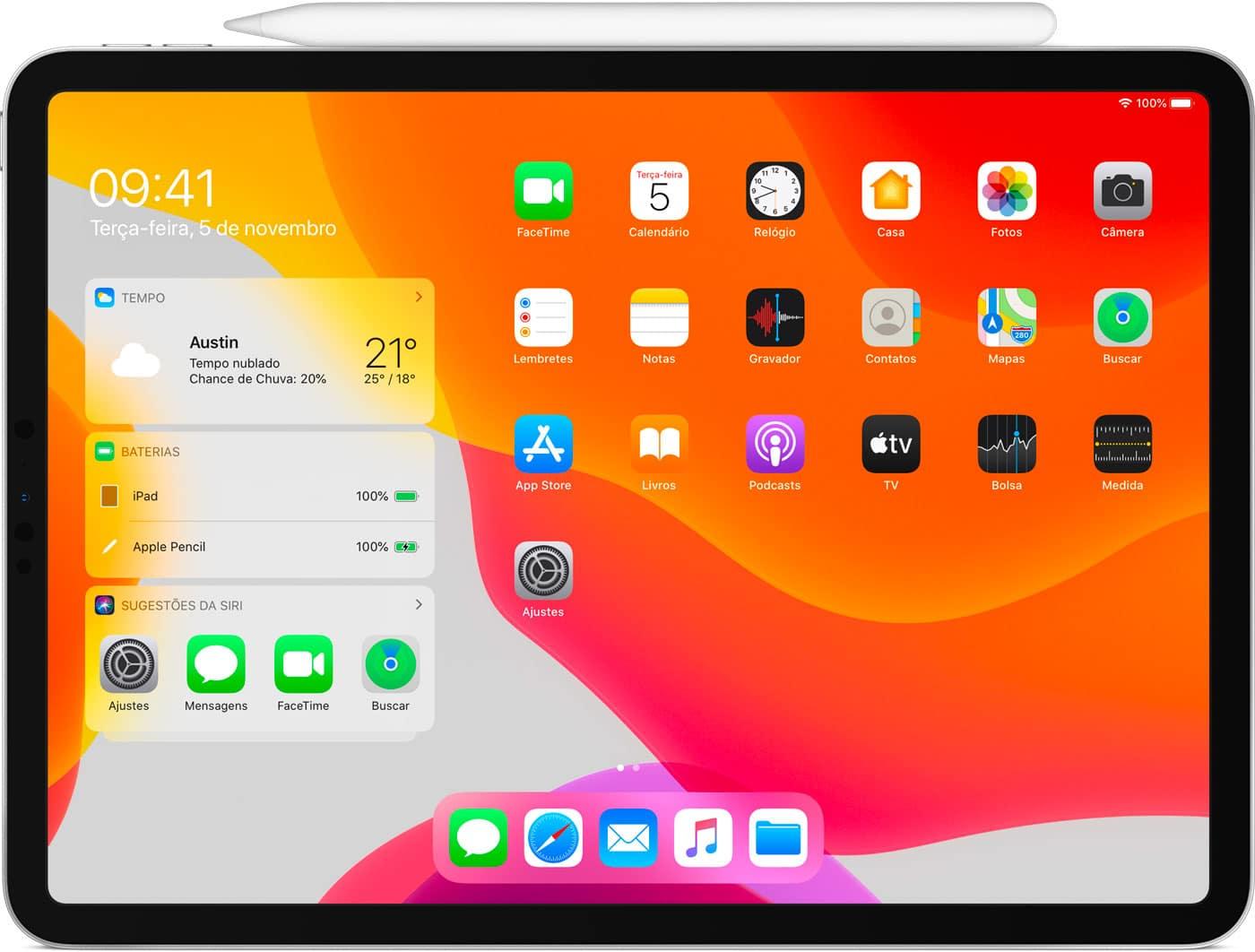 Ver la batería del Apple Pencil en el iPad