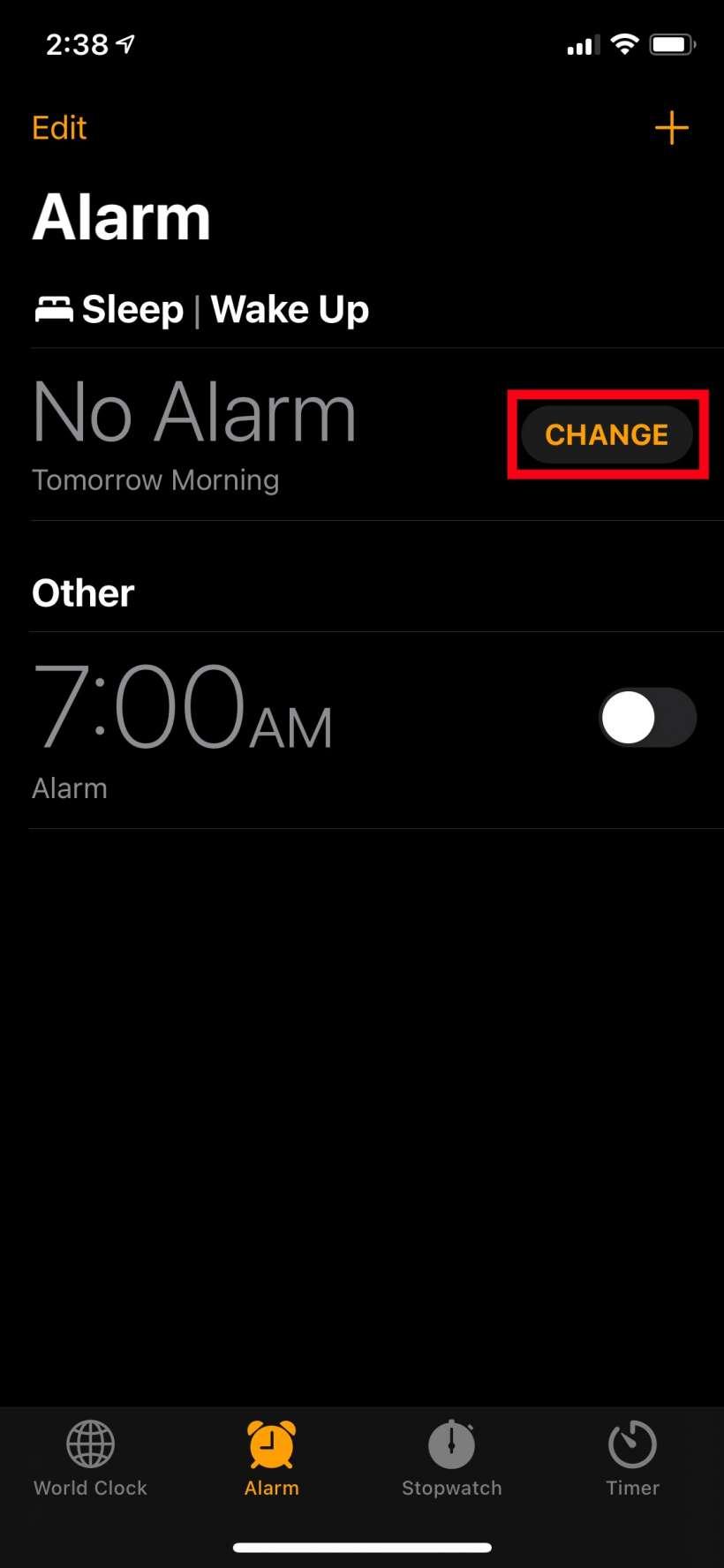 Como programar alarmas de programación para dormir en el iPhone.