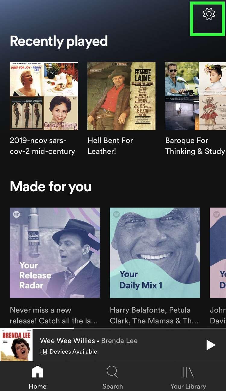 Desactivar la reproducción automática de Spotify