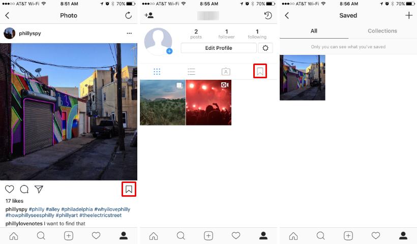 Guardar o añadir mensajes en Instagram.