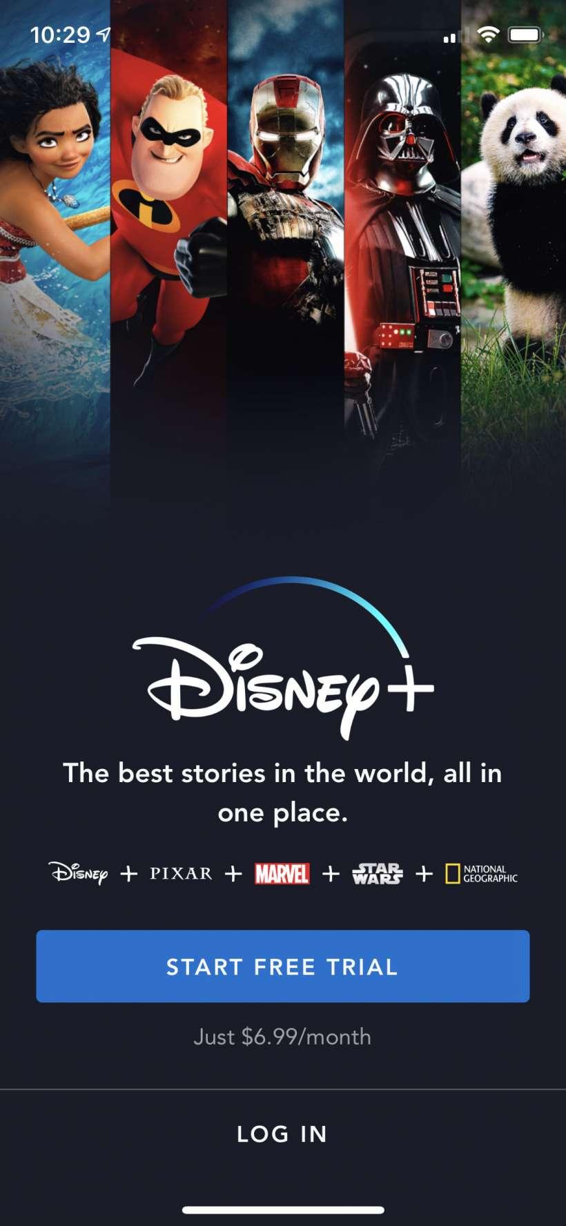 Cómo iniciar el periodo de prueba gratuita de una semana de Disney + iPhone y iPad.