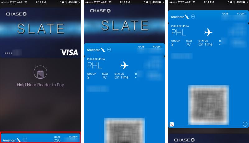 Cómo obtener el billete de avión / la tarjeta de embarque en la pantalla de bloqueo.