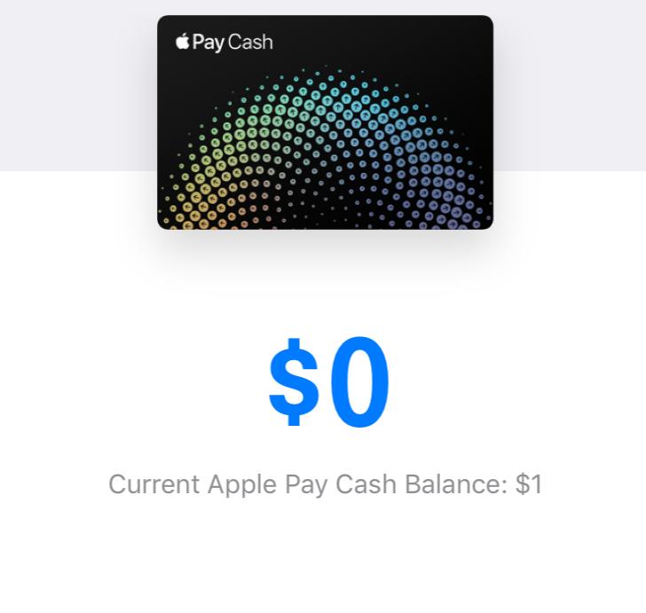Saldo en efectivo de Apple Pay