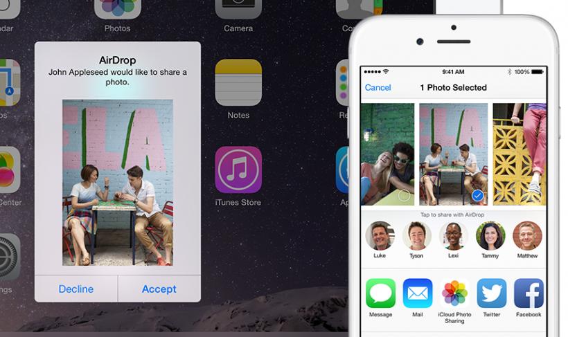AirDrop para iOS 9