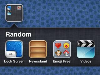 coloca Quiosco en la carpeta iOS 5