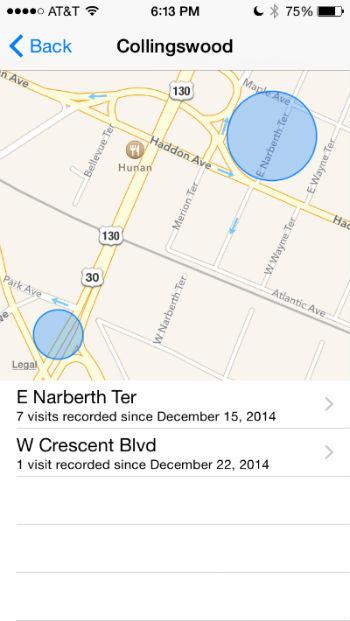 Como se pueden ver ubicaciones frecuentes en tu iPhone.