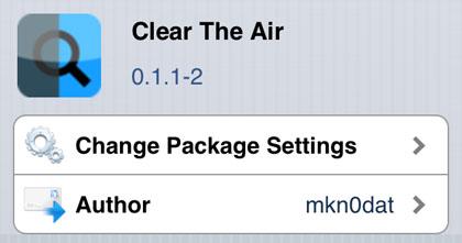 Elimine The Air para modificar Cydia iOS