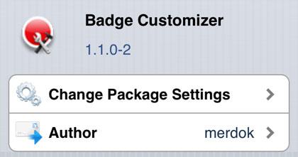 El personalizador de la insignia retoca Cydia iOS