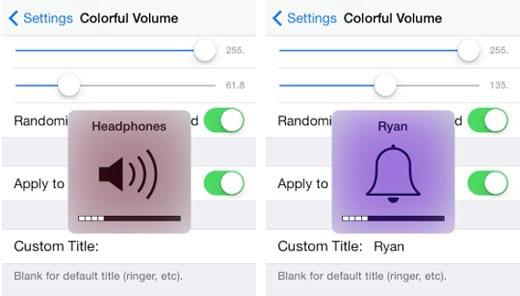 jailbreak de iOS 7 ColorfulVolume