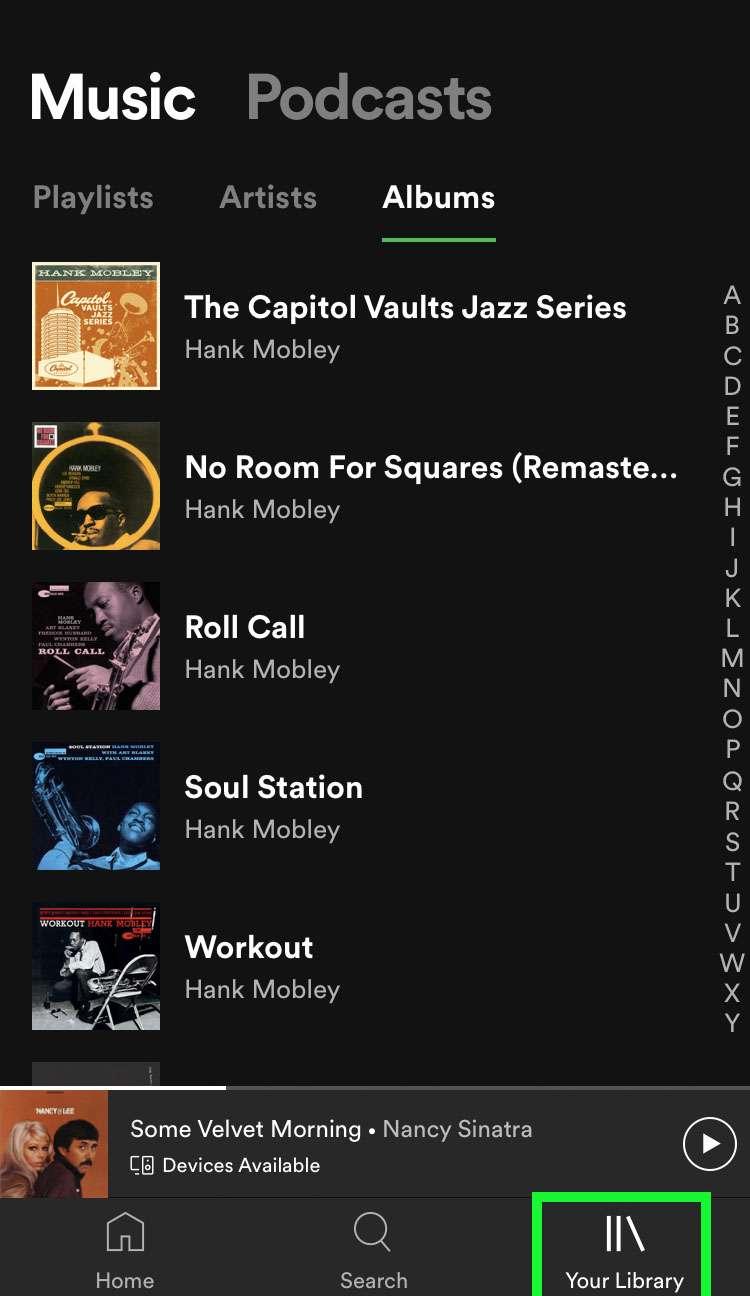 Spotify Mi biblioteca