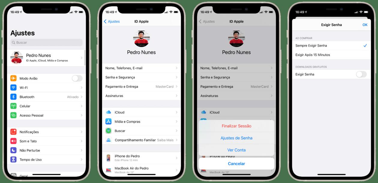 Configuración de contraseña para compras de ID de Apple