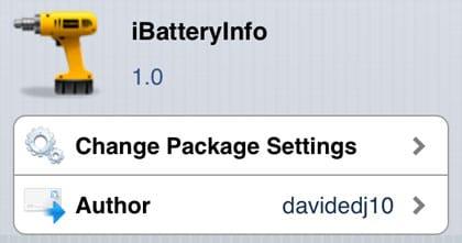 iBatteryInfo retoca Cydia iOS