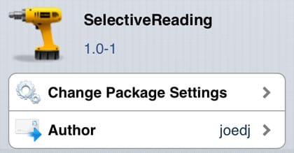 SelectiveReading retoca Cydia iOS