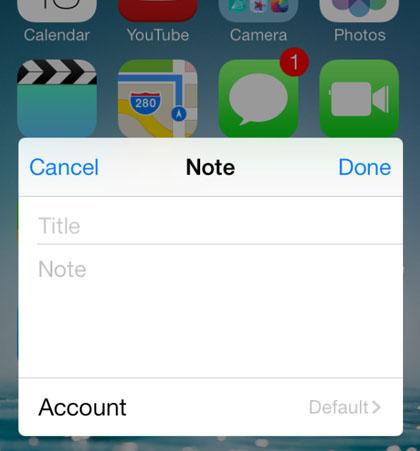 las notas ajustan iOS 7
